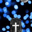 Spooky full moon and cemetary — Stock Photo