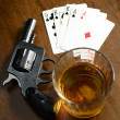 Stock Photo: Winning hand and deadly poker game