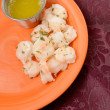 Steamed shrimp appetizer — Stock Photo