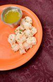 Steamed shrimp appetizer — Stock Photo