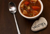 Warmth and vegetable soup — Stock Photo