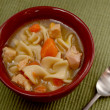 Classic chicken noodle soup — Foto de stock #34644811