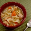 Classic chicken noodle soup — Stockfoto #34644811