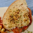 Pepperoni sandwich — Stockfoto #34644997