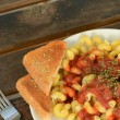 Stock Photo: Rustic tuscpasta