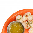 Stock Photo: Shrimp and butter on white