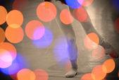 Abstract lights and dancer — Zdjęcie stockowe