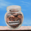 Stock Photo: Saving for retirement