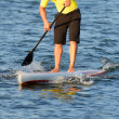 Man on a paddle board in ocean — Stock Photo #39217209