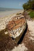 Cuban refugee raft — Stock Photo
