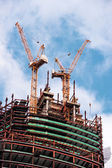 """Fragment of building skyscrapers of business center """"Moscow-City"""" — Stock Photo"""