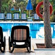 Foto Stock: Chaise lounge by pool to relax in villa