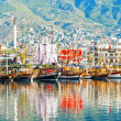 Dinghies on the waterfront of the city of Alanya. — Stock Photo