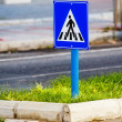 Traffic sign a pedestrian crossing. — Stock Photo