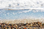 Pebbles on the shore of the Mediterranean Sea — Stock Photo