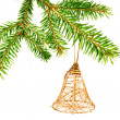 Foto Stock: Hanging Christmas Ornaments