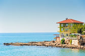 The hotel on the beach in Side. Turkey — Stock Photo