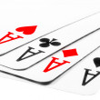 Four aces in poker - Kare — Stock Photo