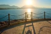 Promenade by the sea. Alania. Turkey. — Stock Photo