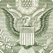 Eagle on the dollar bill, macro — Stock Photo