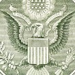 Eagle on the dollar bill, macro — Stock Photo #18913941