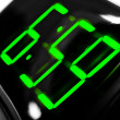 Display digital clock displays the time 6.59 — Foto Stock