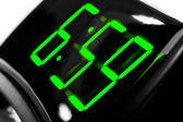 Display digital clock displays the time 6.59 — Stock Photo