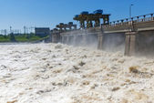 Discharge of water for hydropower plants — Stock Photo