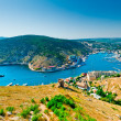 Views of the picturesque bay of Balaklava and the remains of the fortress Genoese. Crimea. Ukraine — Stock Photo #23005320