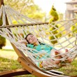 Woman on hammock. — Stock Photo