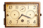 Old rusty clock of the last century — Stock Photo