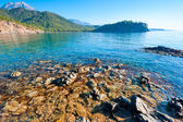Beautiful seascape, the bay and the green mountains — Stock Photo