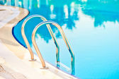 Descent into the pool at the hotel — Stock Photo