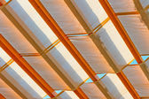 Textile shelter from the weather in detail — Stock Photo