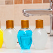 Hygienic set of body care products in the bathroom — Stock Photo