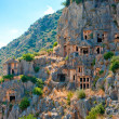 Rock-cut Lycian tombs in Demre — Stock Photo