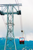 Intermediate support and cableway on Mount Tahtal. — Stock Photo
