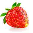 ストック写真: Ripe strawberries on white background with green tail