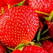 Ripe strawberry macro background — Stock Photo