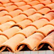 Stock Photo: Tile brown clay closeup