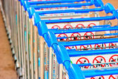 Luggage carts at the airport of Antalya — Stock Photo