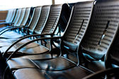 Empty seats for passengers at the airport — Stock Photo