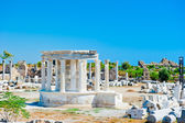 Ruins of the ancient city of Side, a local landmark — Stock Photo