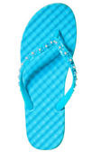 One summer sandal turquoise color on a white background — Stock Photo