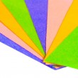 Sheets of colored paper laid bright fan — Stock Photo #39508089