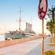 Travel to St. Petersburg-Cruiser Aurora — Stock Photo #40981757