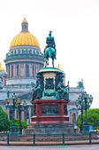 Isaac's Cathedral in St. Petersburg in the afternoon — Stock Photo