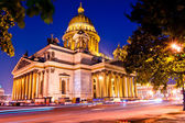Beautiful night shot of the Cathedral of St. Isaac's Cathedral i — Stock Photo