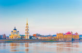 Morning panoramic view of the city of Rybinsk, Russia — Stock fotografie