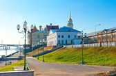Morning walk summer day in the city of Rybinsk, Russia — Stock Photo